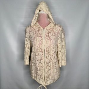 Anthropologie Staring at stars lace hooded top.